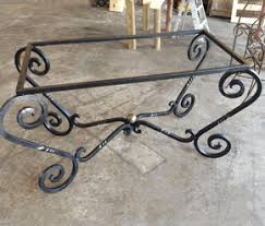 wrought iron table base for granite wrought iron table bases