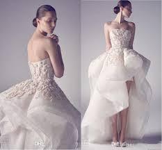 discount ashi studio puffy skirt high low beach wedding dresses