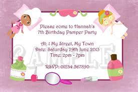 spa party birthday invitations pool design ideas