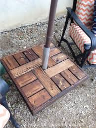 Diy Patio Umbrella Stand Make Your Own Umbrella Stand Side Table Tutorials Summer And
