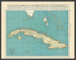 Cuban Map Vintage Map Of Cuba From 1937 Original