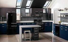 modern black kitchens kitchen creative black kitchen appliance package home design