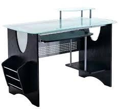 Black Glass Top Computer Desk Glass Computer Desk Flat Packed Black Glass Computer Desk