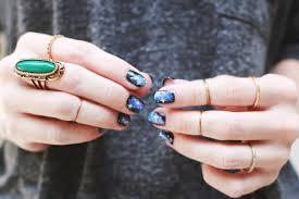 halloween impress nails easy galaxy nails mani diy u2013 a beautiful mess