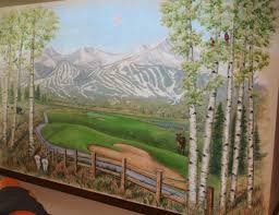 painted wall murals sculpted relief art on walls residential and commercial painted wall mural samples