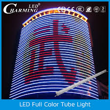 outdoor tube lighting outdoor colorful rgb led light tube lighting for building light up