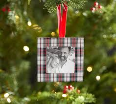 plaid frame ornament pottery barn