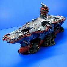 broken aircraft carrier 13 1 aquarium ornament decor shipwreck
