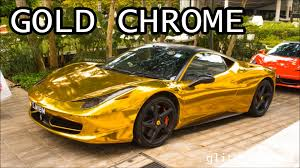 gold chrome ferrari 458 italia youtube