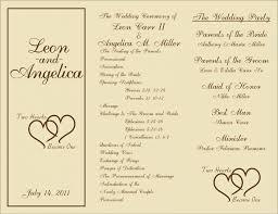 printable wedding program templates wedding free printable wedding programs templates sle awesome