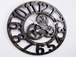 decorative clock large gear wall clock decorative clocks bab surripui net