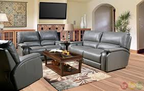 Recliner Leather Sofa Set Chic Reclining Leather Sofa Sets Gray Sofa Set Gray Leather Living