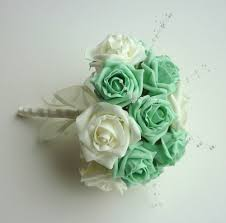 mint green corsage mint green diamante wrist corsage wedding corsages posie