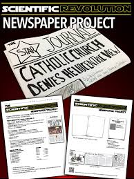 scientific revolution newspaper project scientific revolution