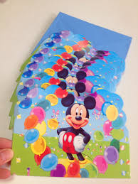 12pc lot mickey mouse birthday party supplies invitation card
