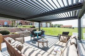 Louvered Roof Pergola by The Bioclimatique Louver Roof Pergola Cover Retractableawnings Com