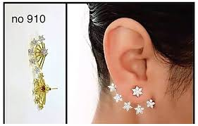 cuff earrings buy shining gold plated ear cuff earing for women online at