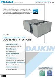 25 ton daikin gas package unit 400k btu 208 230v or 460v 3 phase