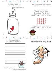 valentine u0027s day printable mini book free worksheets for kids