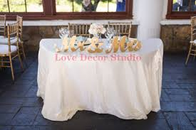 Mr And Mrs Wedding Signs Aliexpress Com Buy Gold Mr And Mrs Wedding Signs Table Signs For