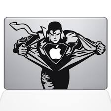 pin by stickerminer on stickers pinterest macbook decal find the superman macbook decal at the decal guru online store
