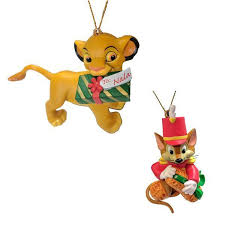 2 pack disney officially licensed collectible ornaments