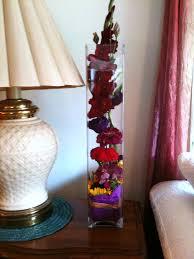 Tall Glass Vase Flower Arrangement Shades Of Summer Flowers The Flower Godmother