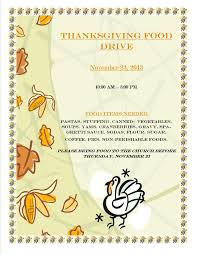 thanksgiving food drive flyer website resume cover letter