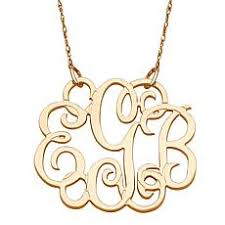 Monogrammed Necklace Monogrammed U0026 Personalized Jewelry Hsn