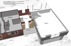 schematic for studio over garage and mudroom addition robert