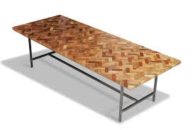 Unique Wooden Coffee Table Idyllic Square Chevron Pattern Reclaimed Wood Coffee Table Top