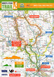 Running Map Route by White Peak Trail Run Event Information Peak District Trail