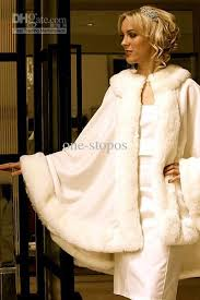 stunning bridal cloak capes ivory wedding jacket faux fur perfect