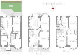romanesque floor plan park slope brooklyn house for sale 838 carroll street brownstoner