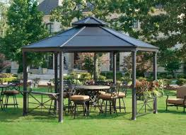 Gazebo With Bar Table 34 Metal Gazebo Ideas To Enhance Your Yard And Garden With Style