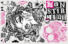 rmk2257slm monster high face with lace megapack wall stickers