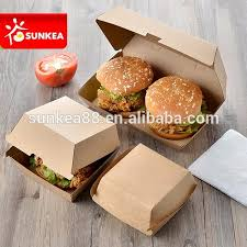 custom paper packaging burger box templates for fast food buy