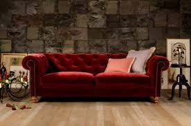 Red Velvet Chesterfield Sofa by Chesterfield Sofas U0026 Chairs Handmade In The Uk
