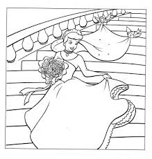 disney princess cinderella gown coloring pages kentscraft