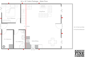 Derksen Cabin Floor Plans by 32 X 32 Home Plan