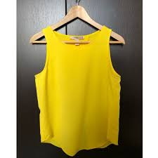 yellow blouse 33 forever 21 tops forever 21 yellow open back blouse from