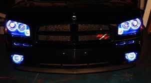 2008 dodge charger lights 2008 dodge charger rt blue oracle halo lights mr kustom