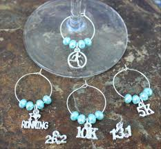 design your own to run wine charms blue laamb designs