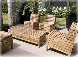 nice modern design of the wooden outdoor chairs that has cream