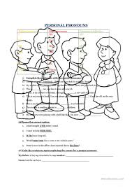 Personal And Possessive Pronouns Worksheet Personal Pronouns Subject Object Possessive Worksheet Free