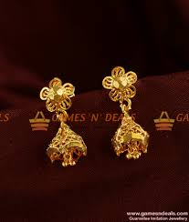 er301 south indian jhumki trendy small design daily