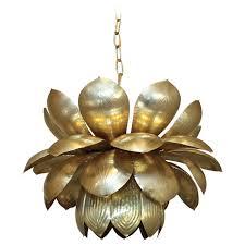 Lotus Chandelier Large Feldman Brass Lotus Chandelier Or Pendant At 1stdibs