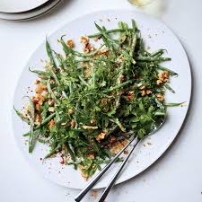 cuisine haricot vert haricots verts and freekeh with minty tahini dressing recipe