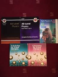 a level physics books for study revision x 5 in poynton