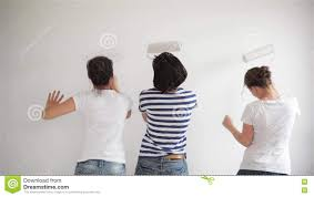 friends makes repairs at home funny girls dance and paint the